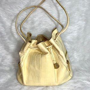 VINTAGE Brahmin Delita Yellow handbag
